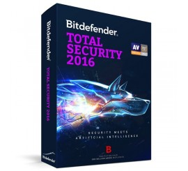 BitDefender Total Security 2016, 1 PC, 1 AN, Retail