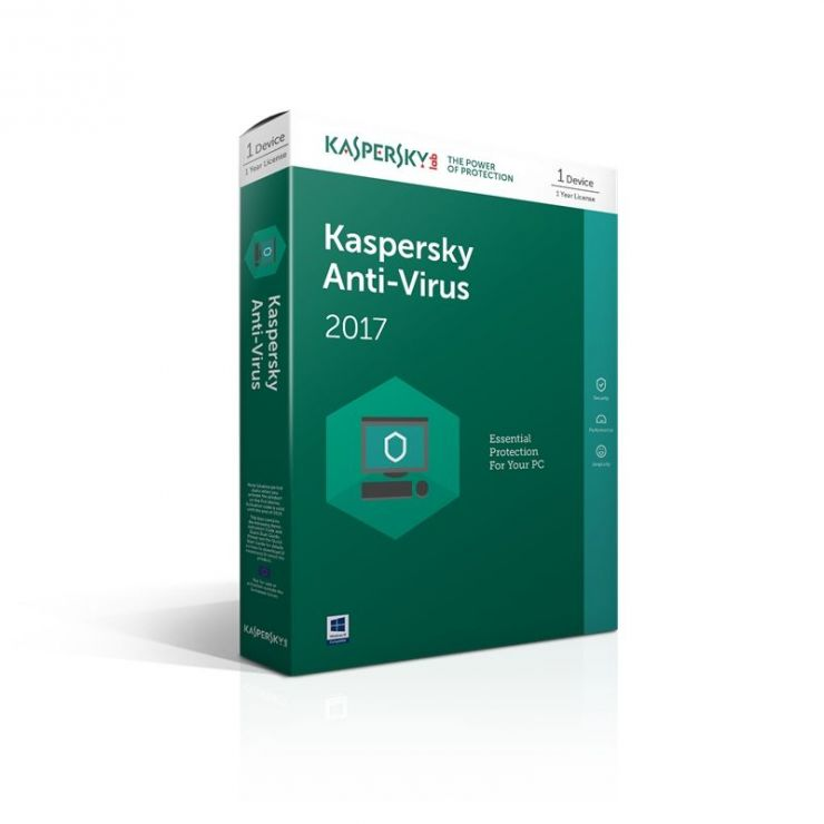 Kaspersky Anti-Virus 2017, 3 PC, 1 AN, Retail