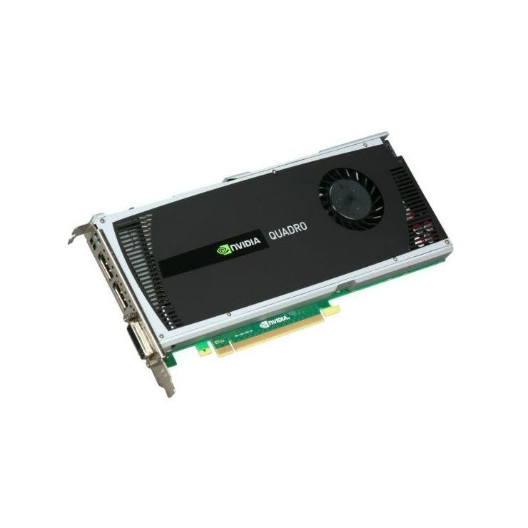 Placa video nVidia Quadro 4000, 2GB GDDR5, 256bit, 1 x DVI, 2 x DisplayPort