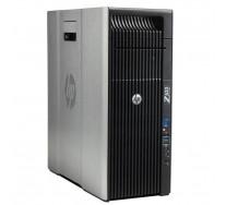 HP Z620 Workstation, 2 x Intel HEXA Core Xeon E5-2640 2.50 GHz, 64GB DDR3 ECC, 120GB SSD + 500GB HDD, nVidia Quadro 4000, DVDRW, GARANTIE 3 ANI