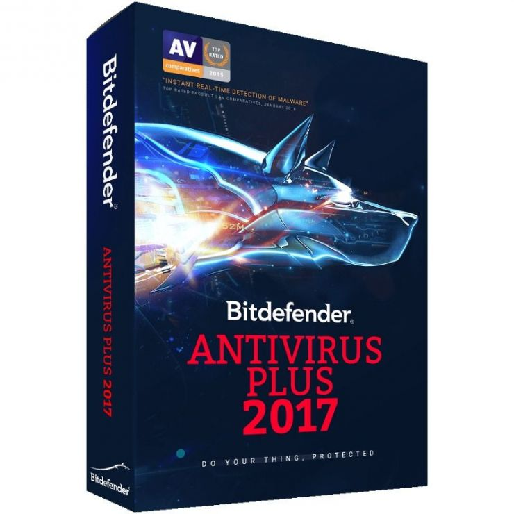 Bitdefender Antivirus Plus 2016, 3 PC, 1 AN, Retail