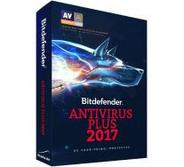 Bitdefender Antivirus Plus 2017, 3 PC, 1 AN, Retail