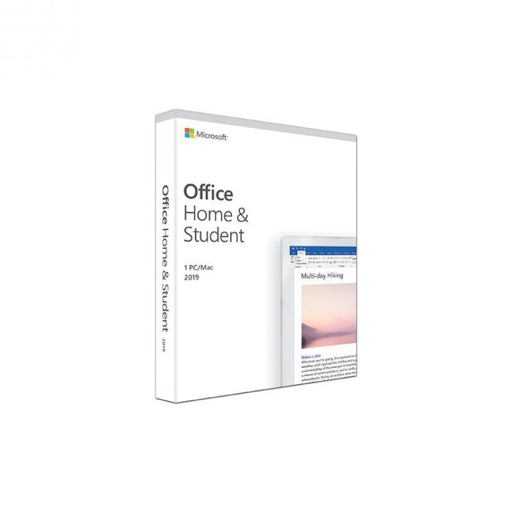 Microsoft Office Home & Student 2019, Medialess, English, FPP ESD